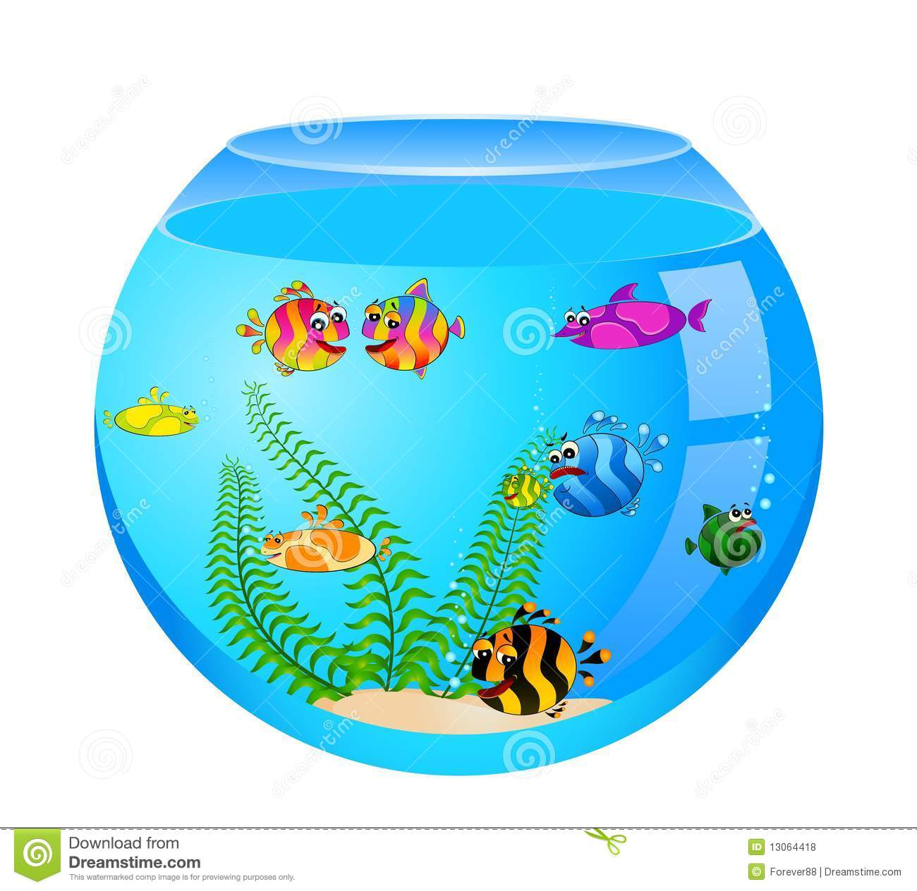 Tropical Fish In Aquarium Royalty Free Stock Photos - Image: 13064418