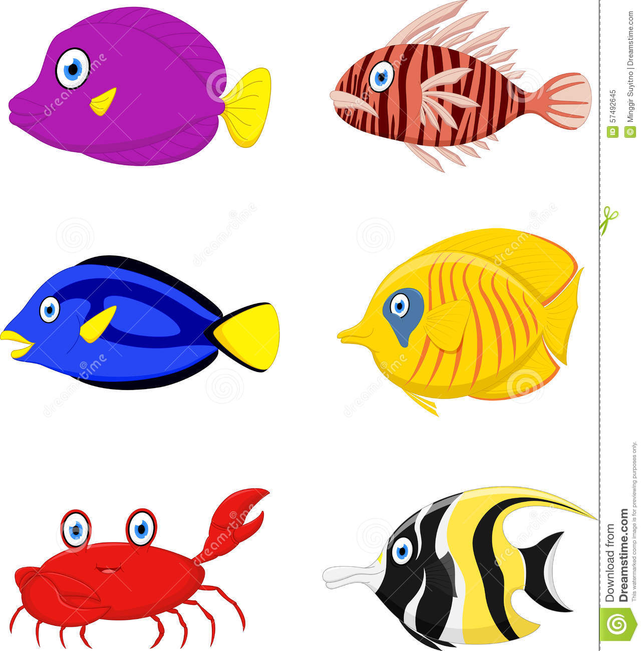 Cartoon tropical fish for Dreaming of fish
