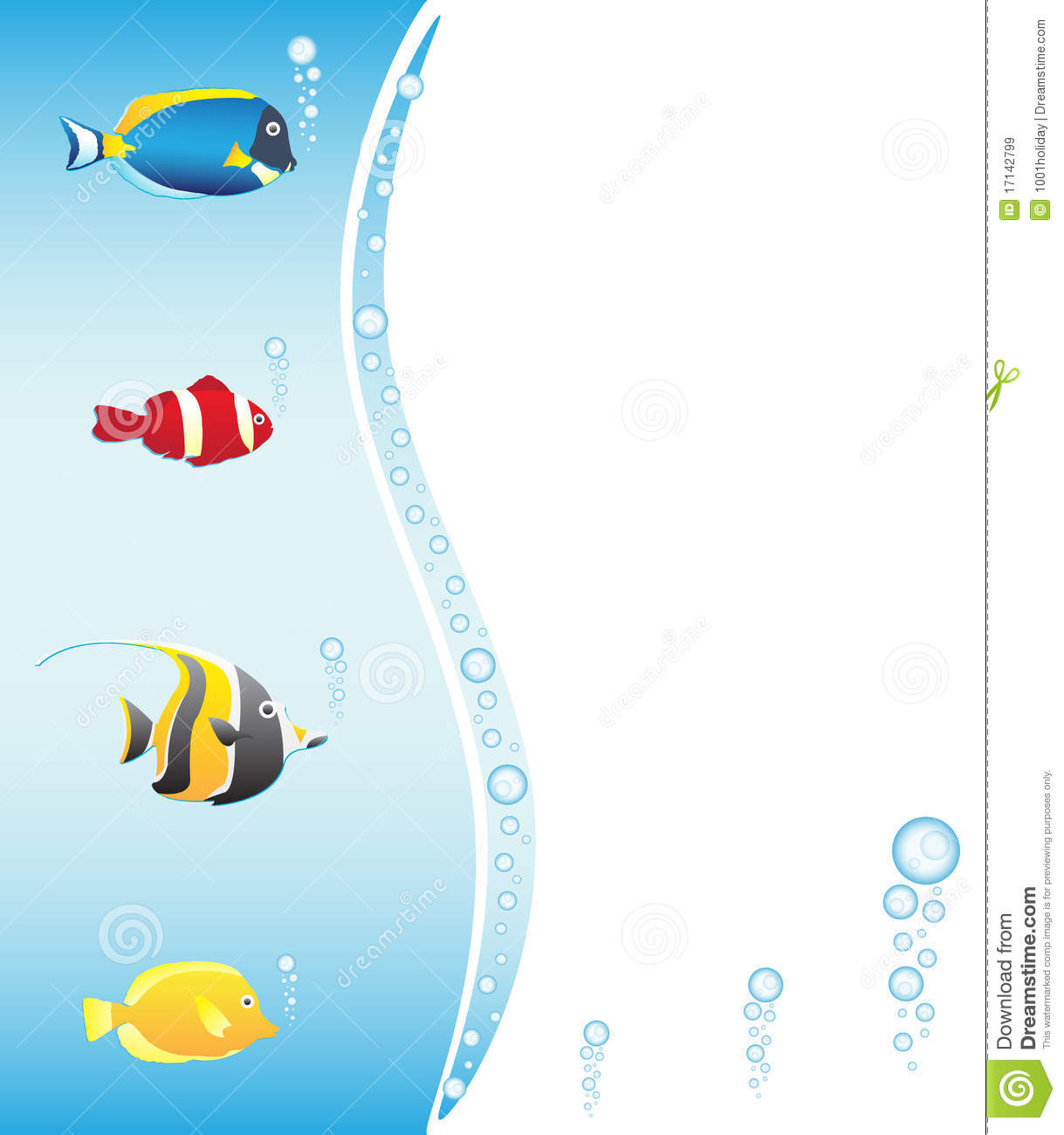 Tropical fish frame for your design royalty free stock for Fish photo frame