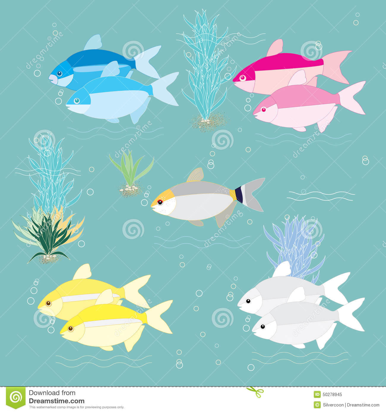 Tropical fishes Illustration