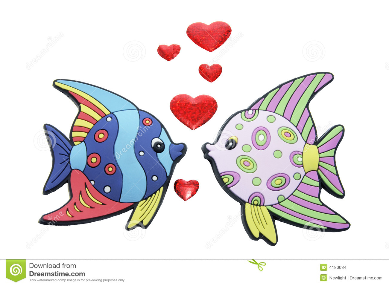 Tropical fishes with love hearts stock images image 4180084 for I love the fishes