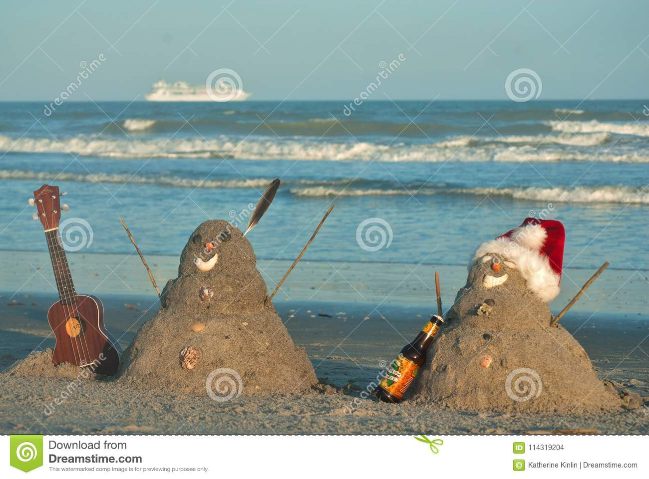 Christmas In Florida Images.Tropical Florida Beach Vacation Christmas Stock Photo