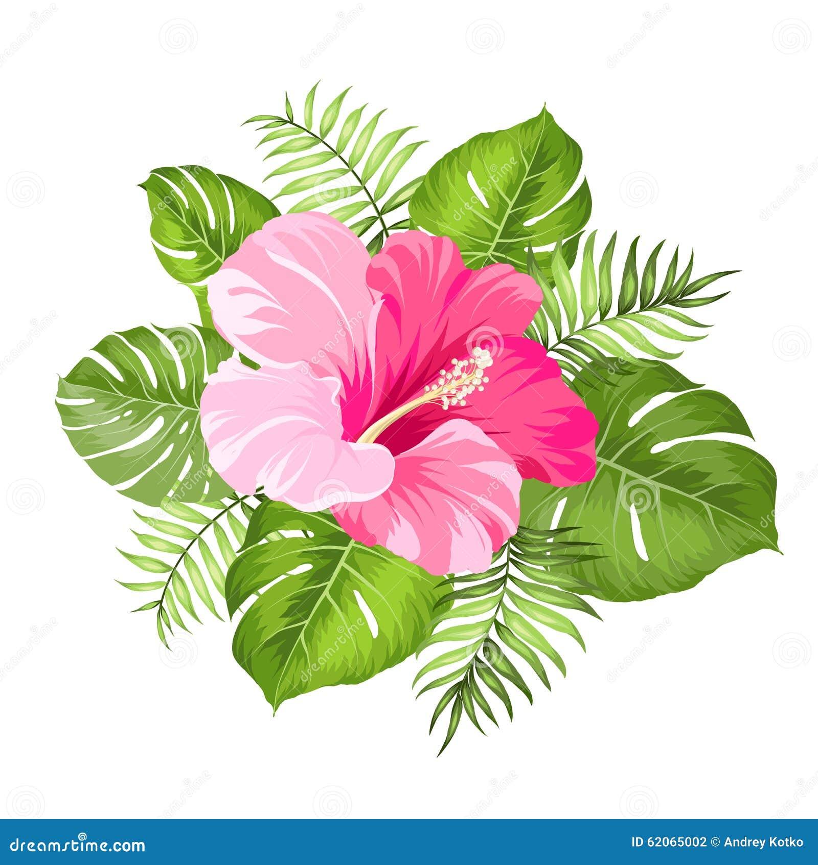 Tropical flower garland stock vector illustration of greeting download comp izmirmasajfo