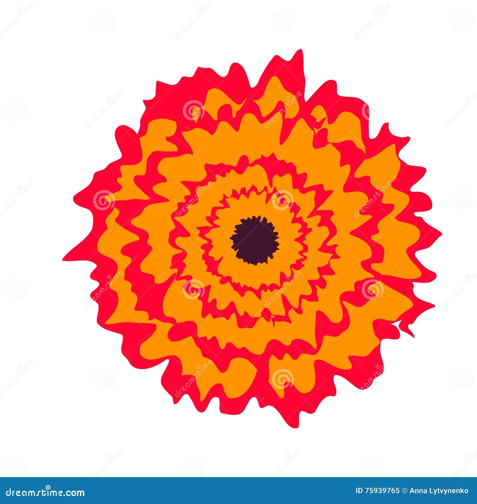 Tropical flower stock illustration. Illustration of color - 75939765