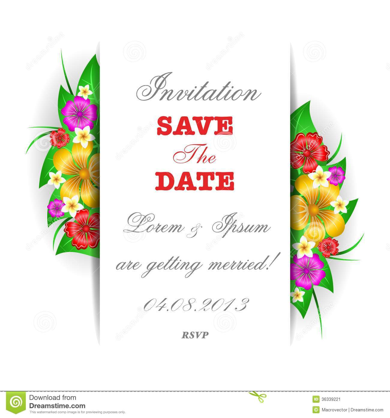 Tropical Invitations with adorable invitations ideas