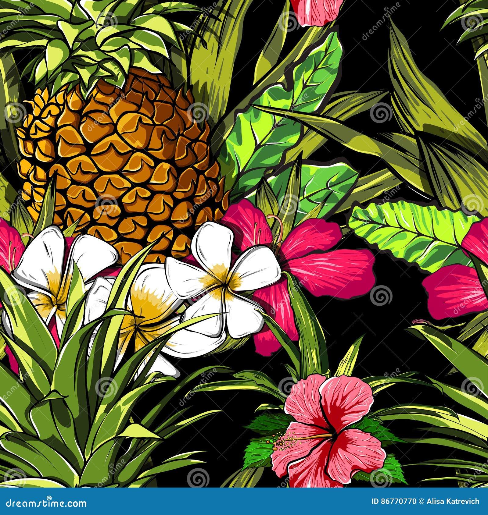 Tropical Flowers, Jungle Leaves, Paradise Flower ...