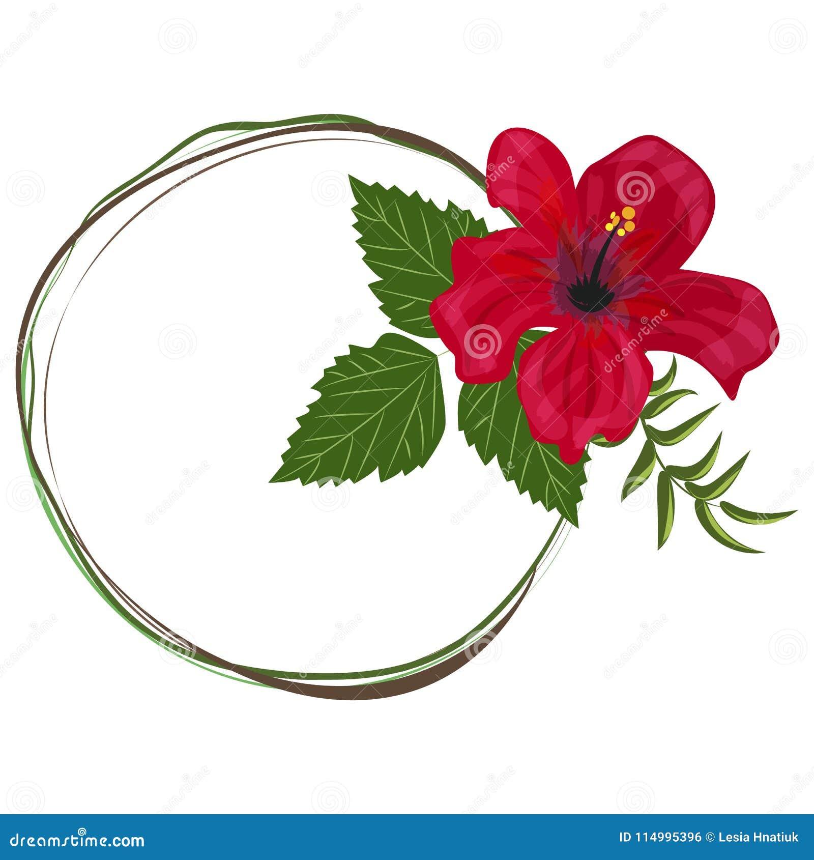 Tropical Frame Floral Summer Leaf Aloha Design. Stock Vector ...