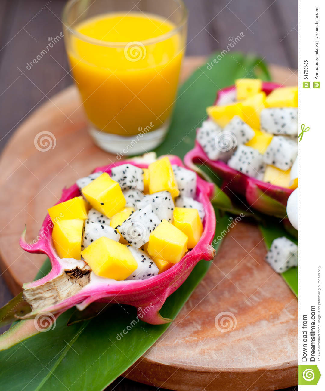 mango fruit salad pitaya fruit