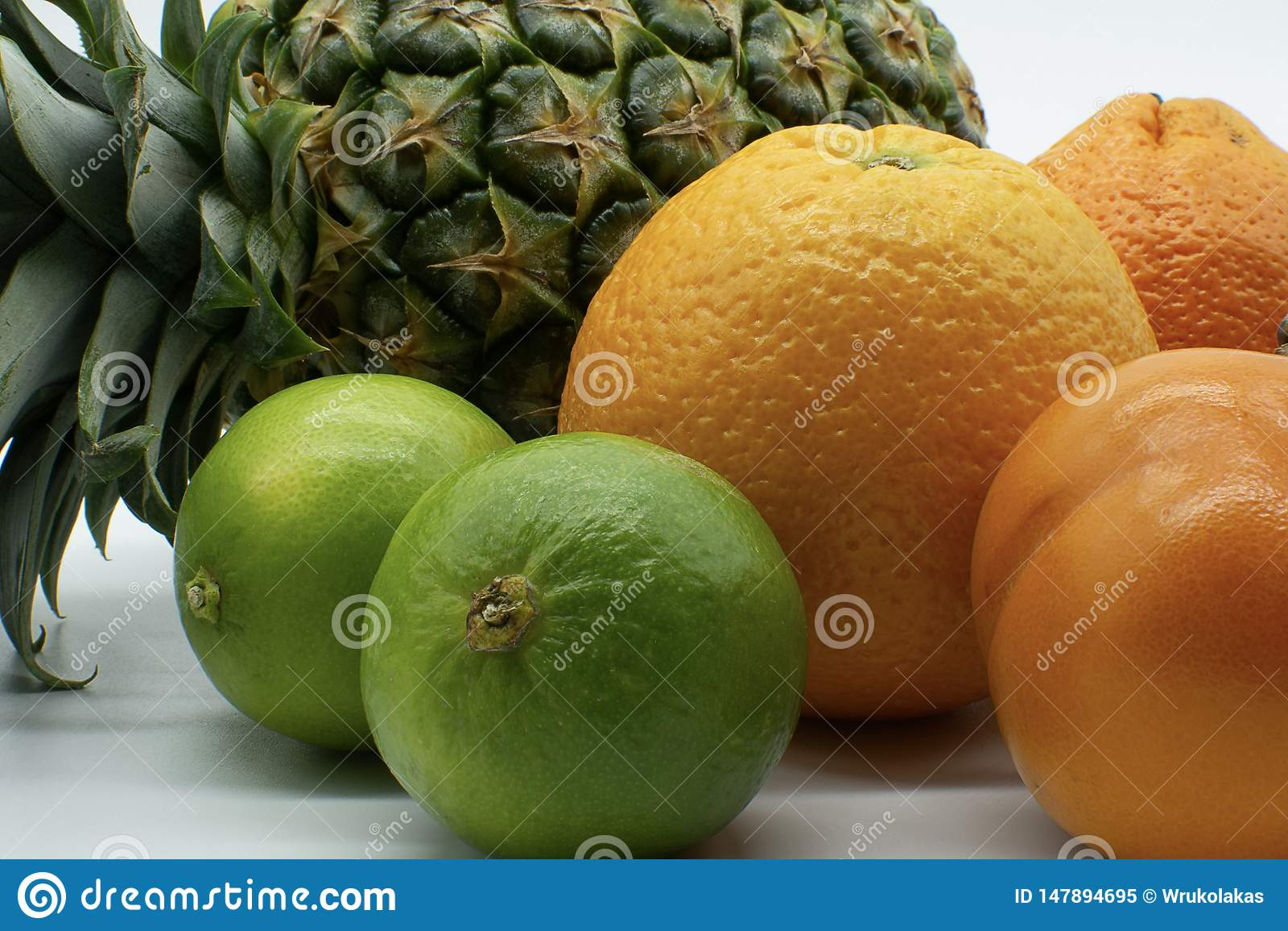 Close-up of tropical fruits
