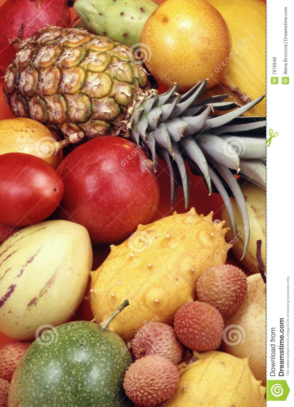 Tropical Fruits And Vegetables Royalty Free Stock Photos ...