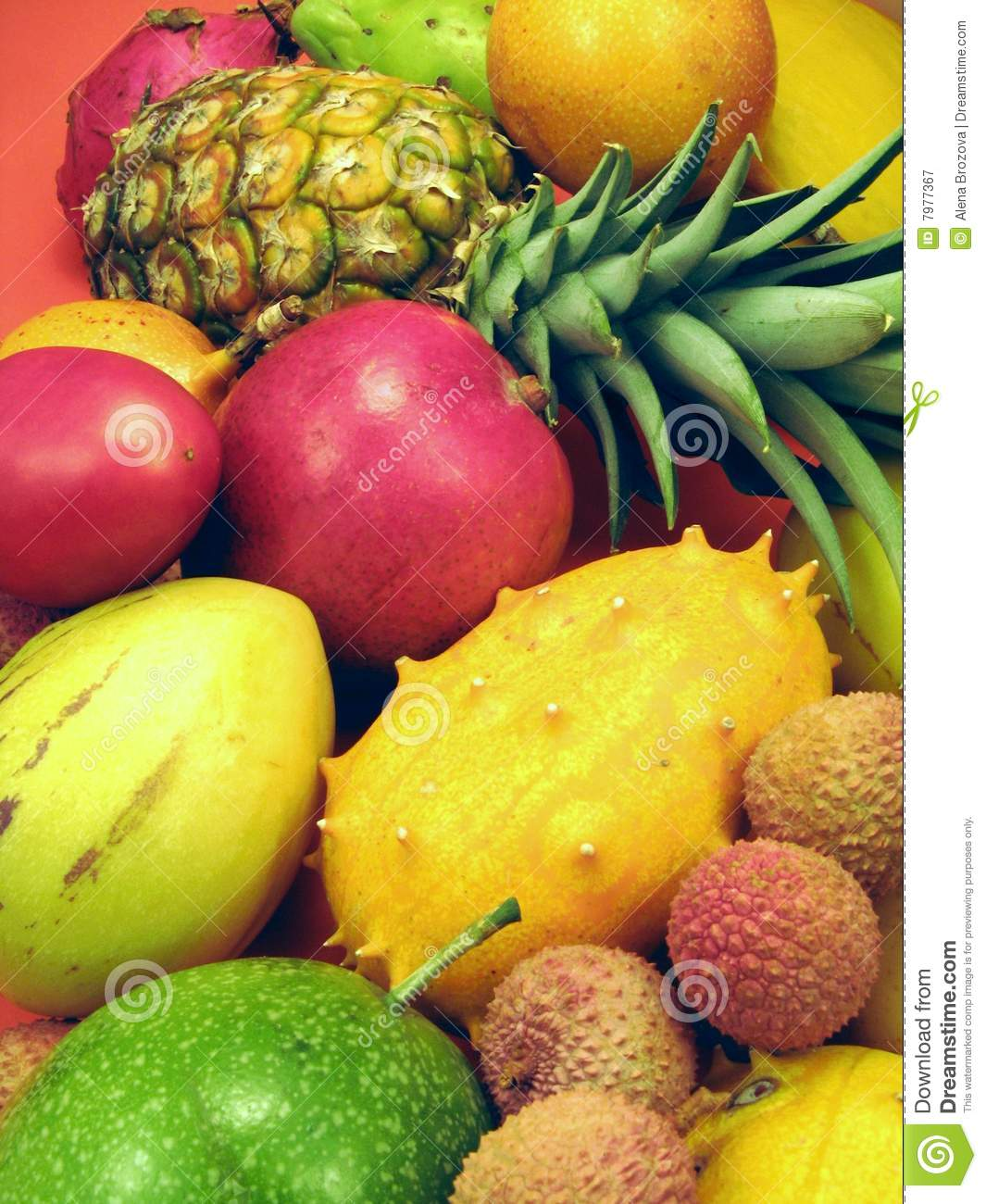 Tropical Fruits And Vegetables Royalty Free Stock ...