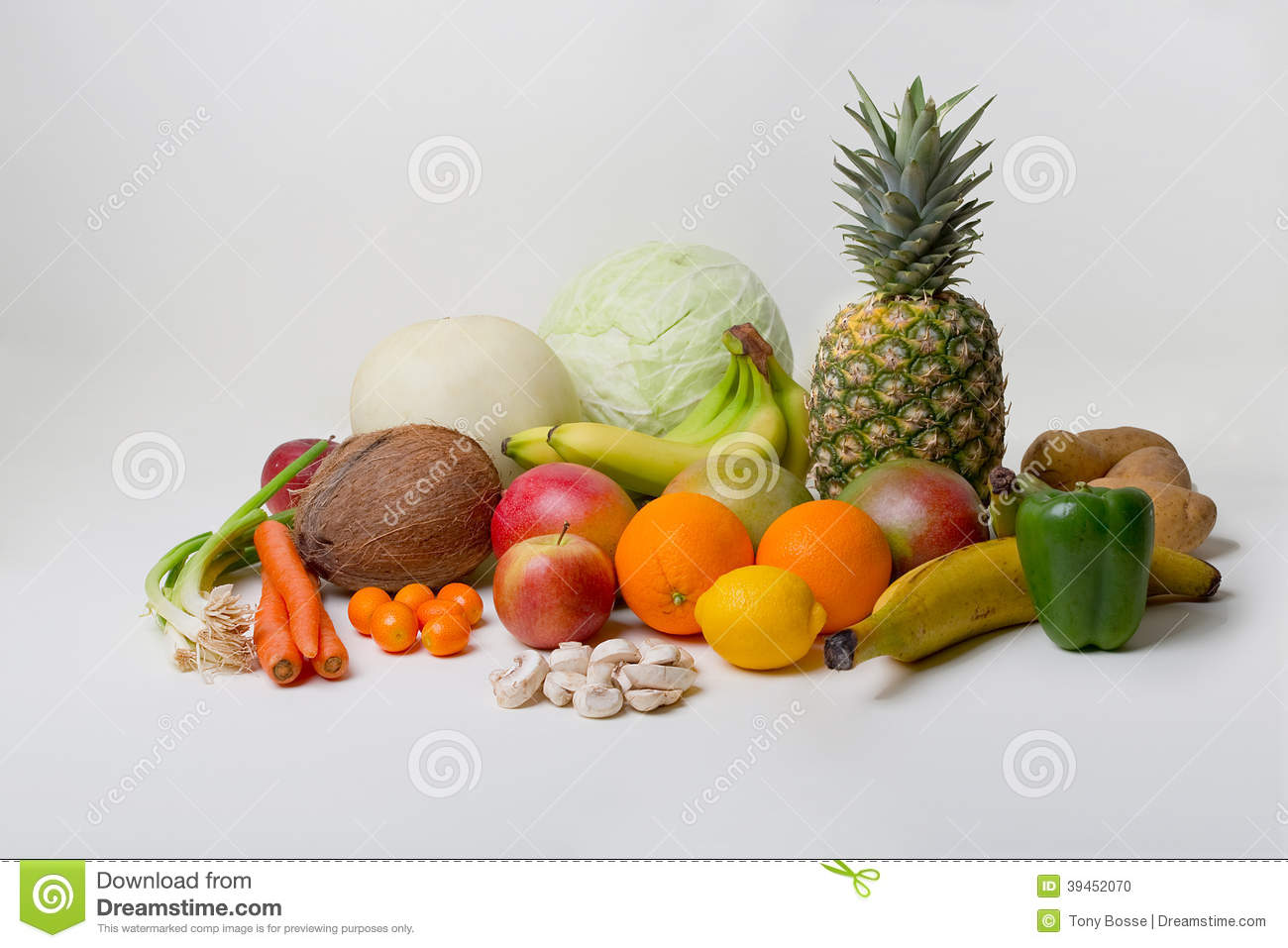 Tropical Fruits And Vegetables Stock Photo - Image: 39452070