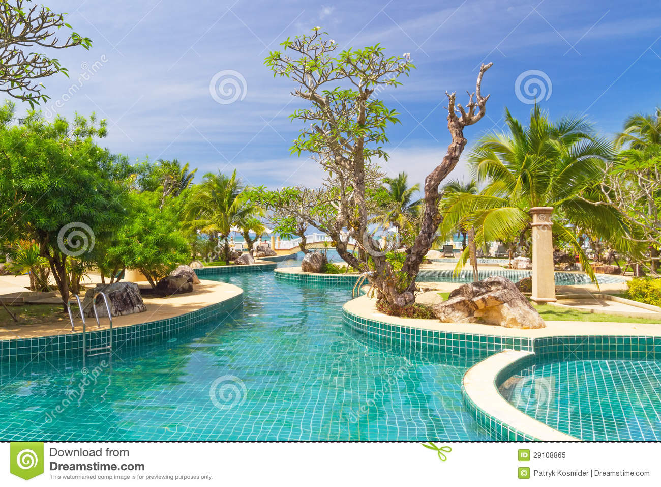 Tropical Garden Scenery In Thailand Royalty Free Stock