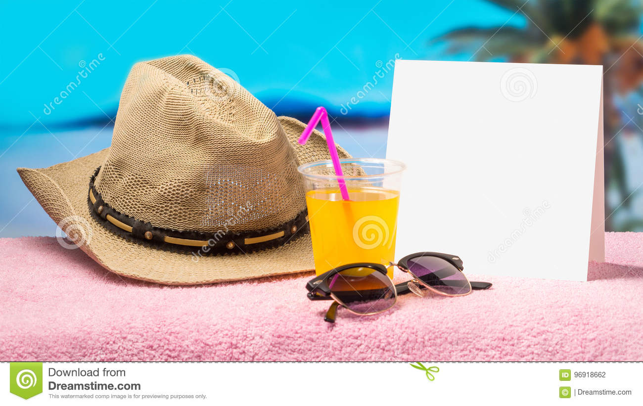 Tropical holiday promotion banner template with nice summer and spring feeling. Paradise campaign background for hot offers.