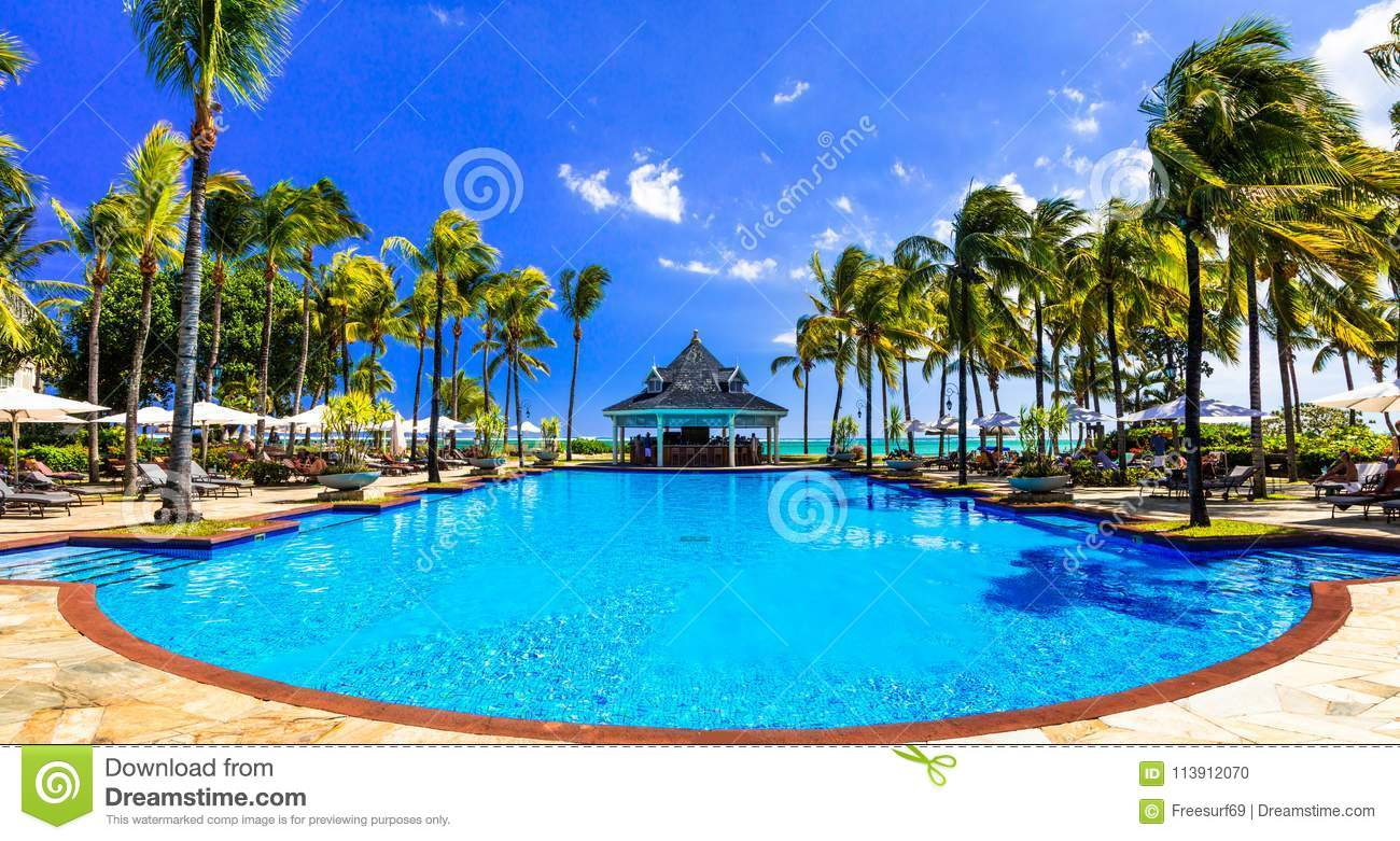 Tropical Island Beach Ambience Sound: Relaxing Tropical Holidays In Mauritius Island Editorial