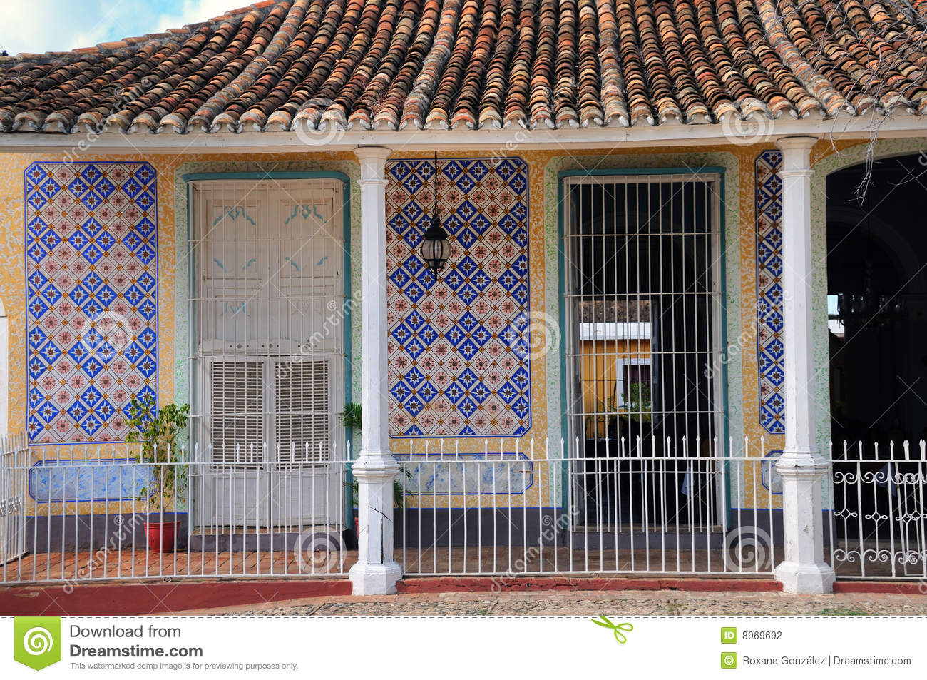 tropical house facade stock photo  image of fashioned