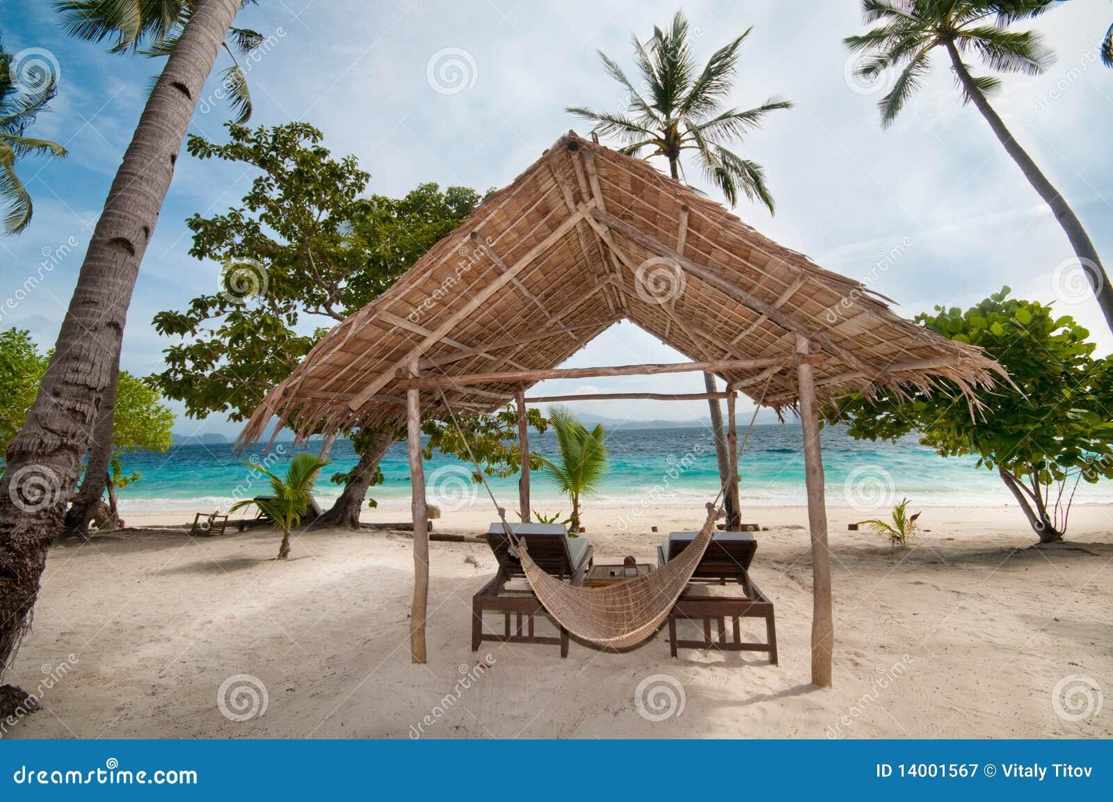 Tropical Island Beach Hut: Tropical Hut Royalty Free Stock Photography