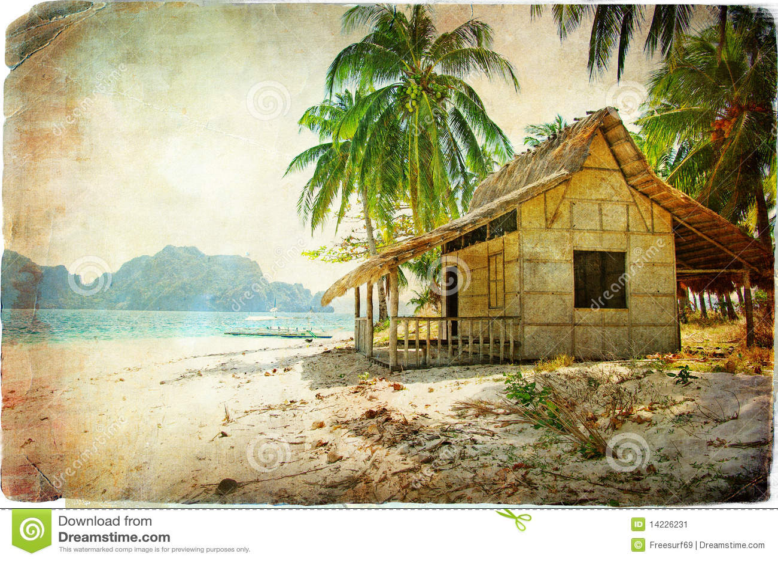 Tropical Hut Palm Bungalow