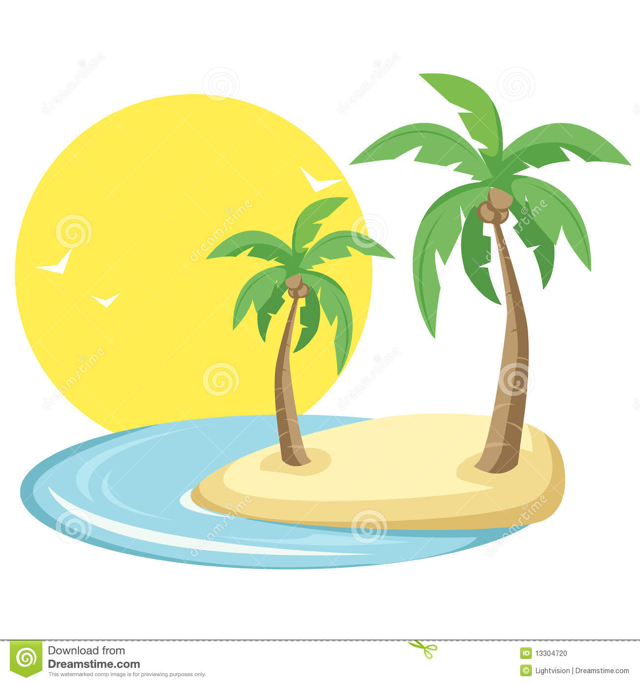 Download Tropical island stock vector. Illustration of relax, design - 13304720