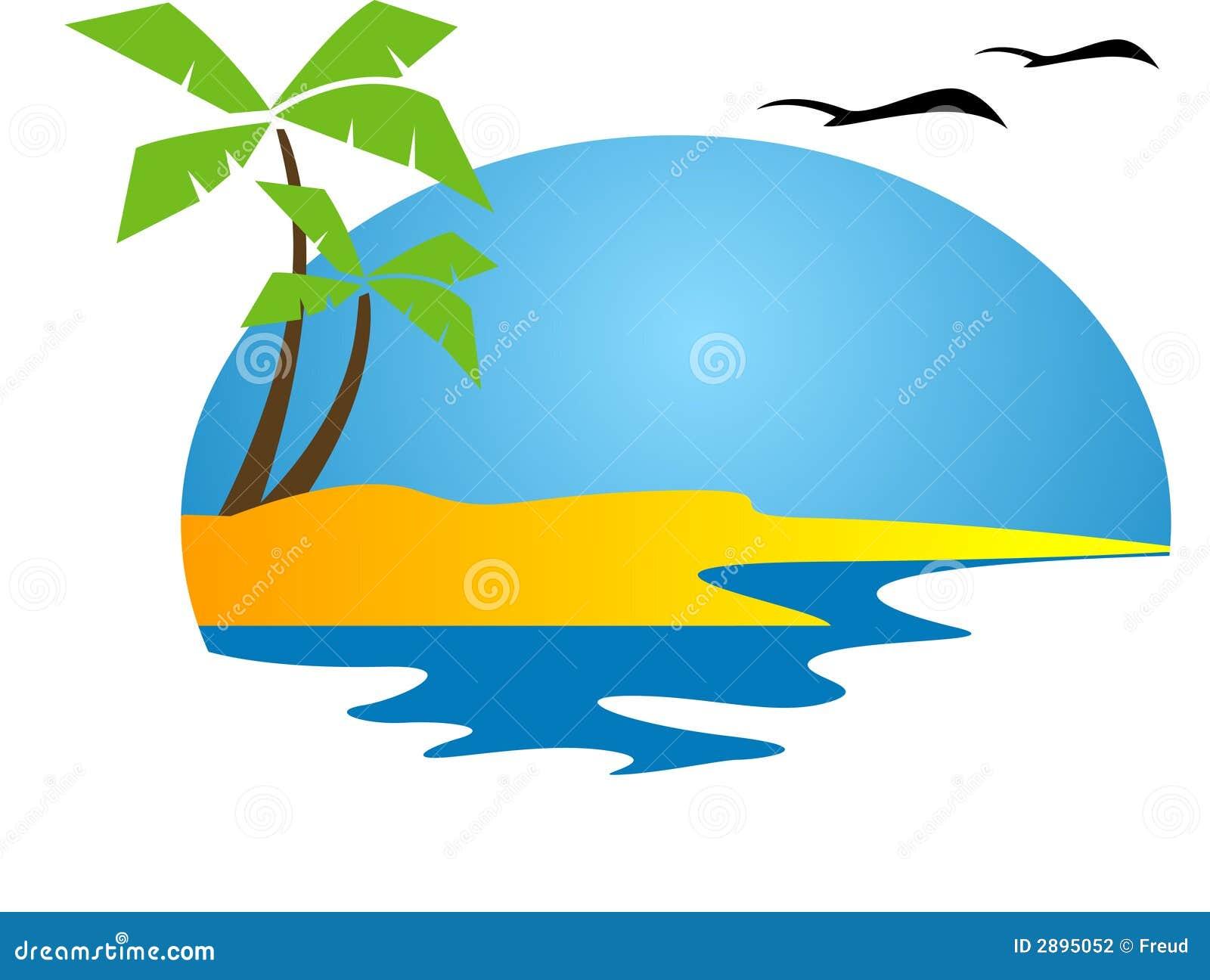 tropical island stock vector illustration of coast coconut 2895052 rh dreamstime com tropical island clipart free