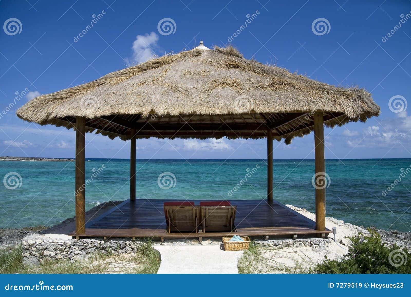 Tropical Beach Huts: Tropical Island Beach Hut Stock Image. Image Of Island