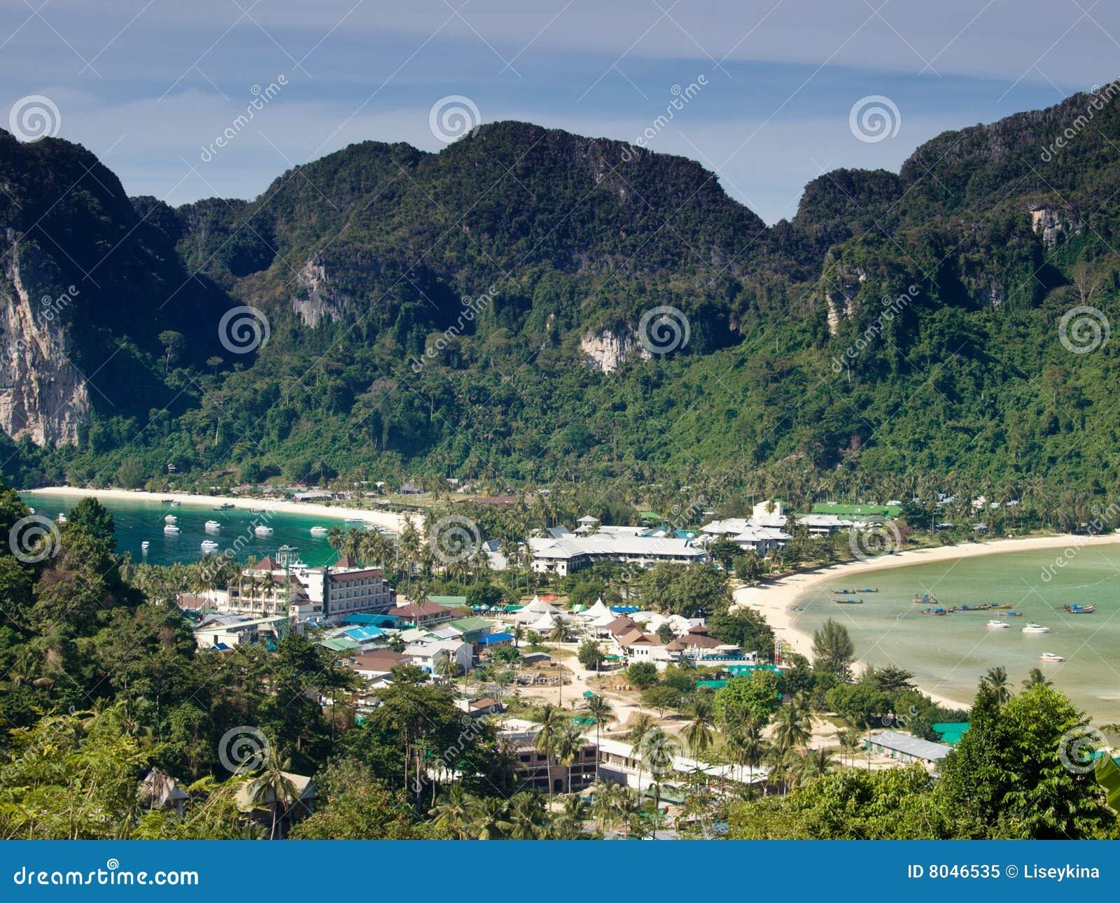Tropical Island Bird Eye View Royalty Free Stock Photo Image 8046535