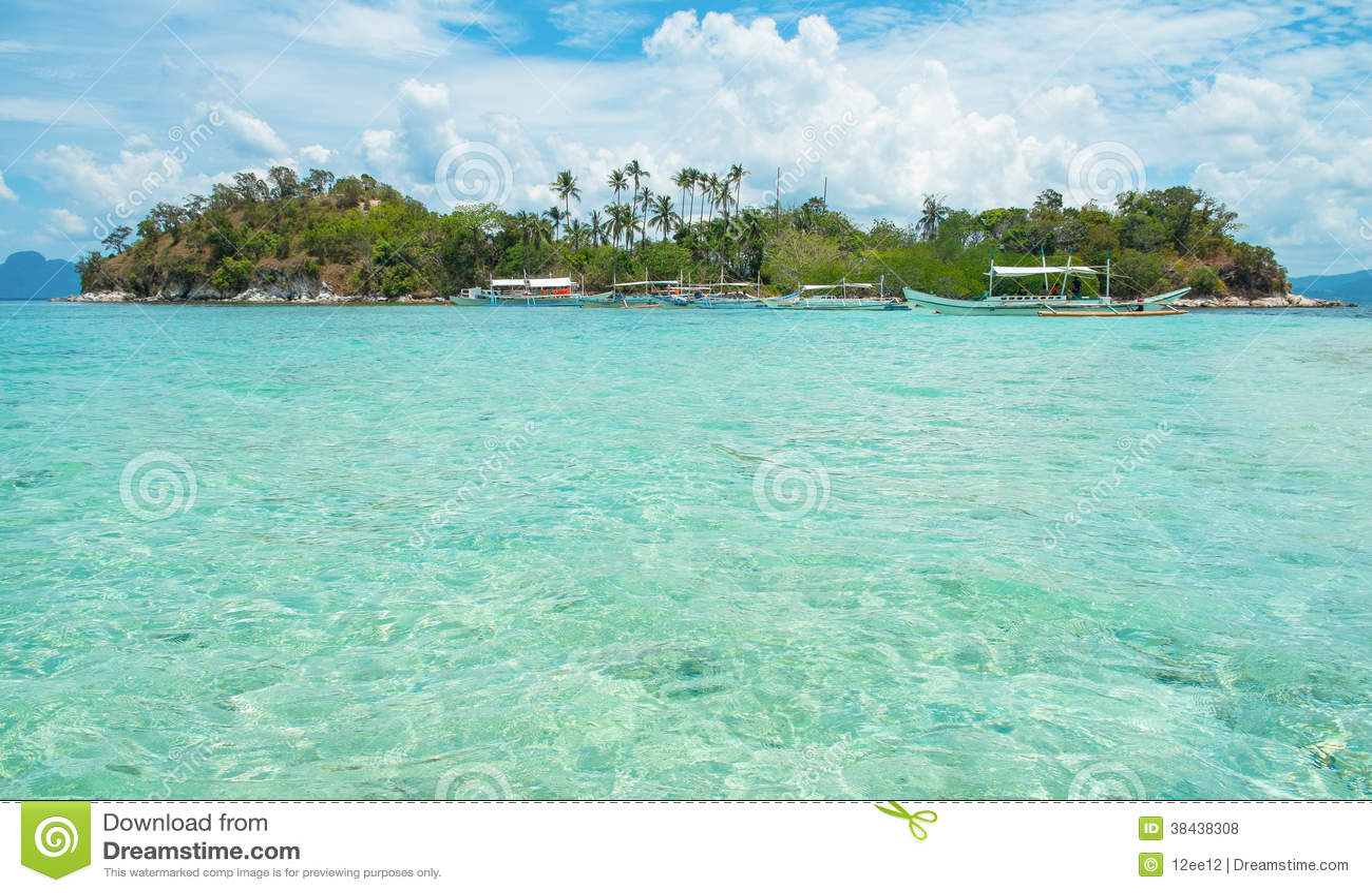 Lagoon Tropical Island: Tropical Island And Blue Lagoon Royalty Free Stock Photos