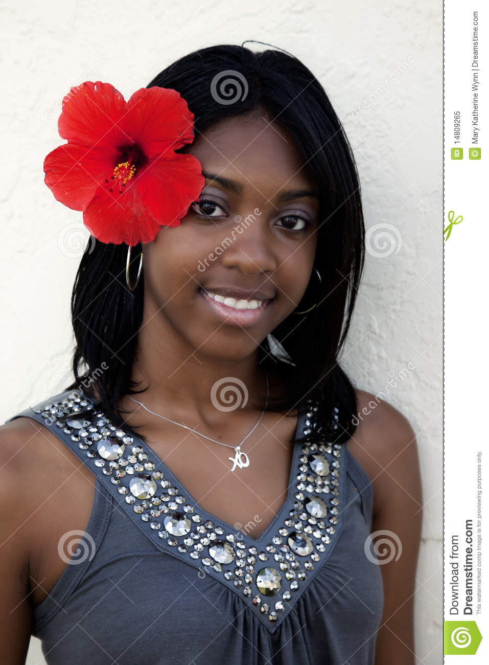 Tropical Island Girl Royalty Free Stock Photo Image