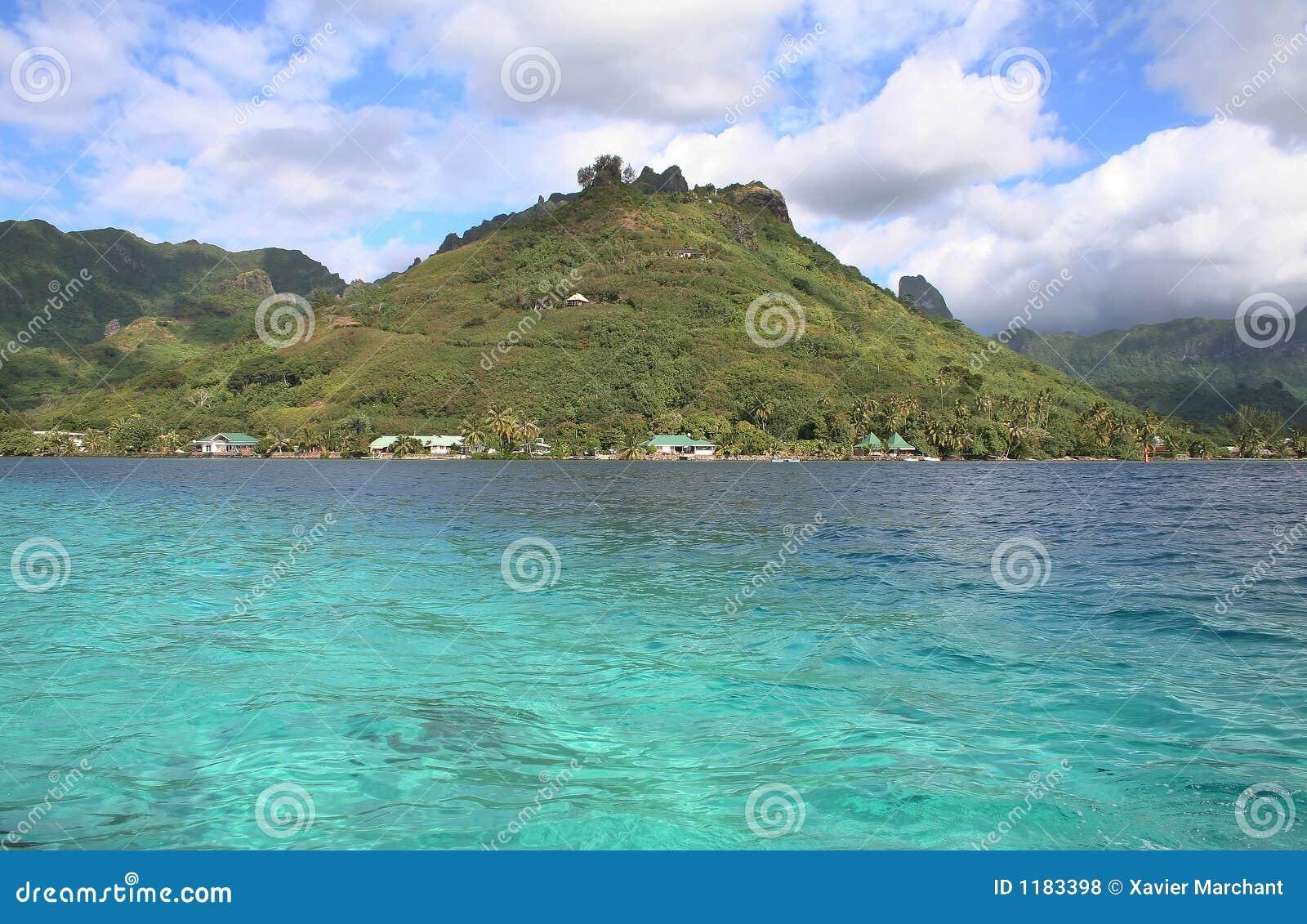 Lagoon Tropical Island: Tropical Island Lagoon Royalty Free Stock Photos