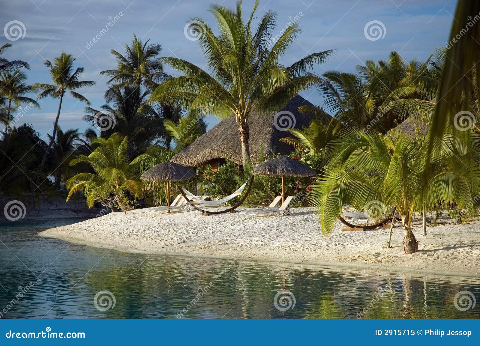 Lagoon Tropical Island: Tropical Island Lagoon Royalty Free Stock Photo