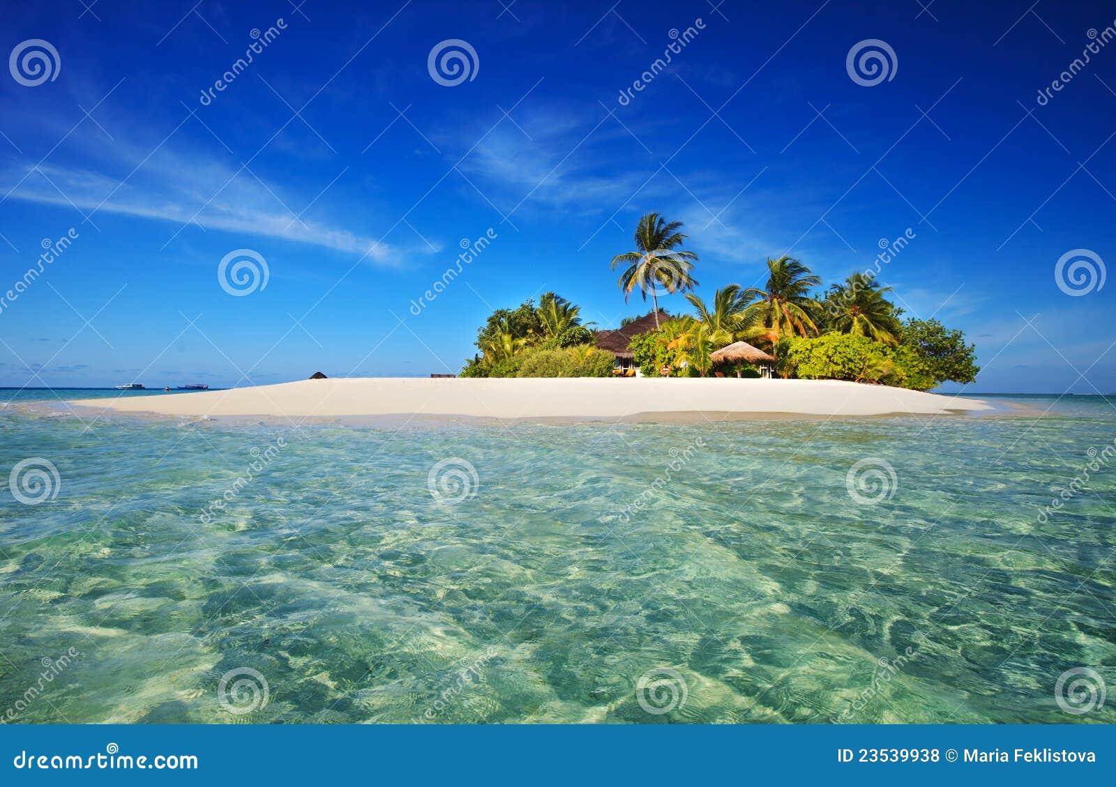Tropical Island Paradise: Tropical Island Paradise Stock Photo. Image Of Escape