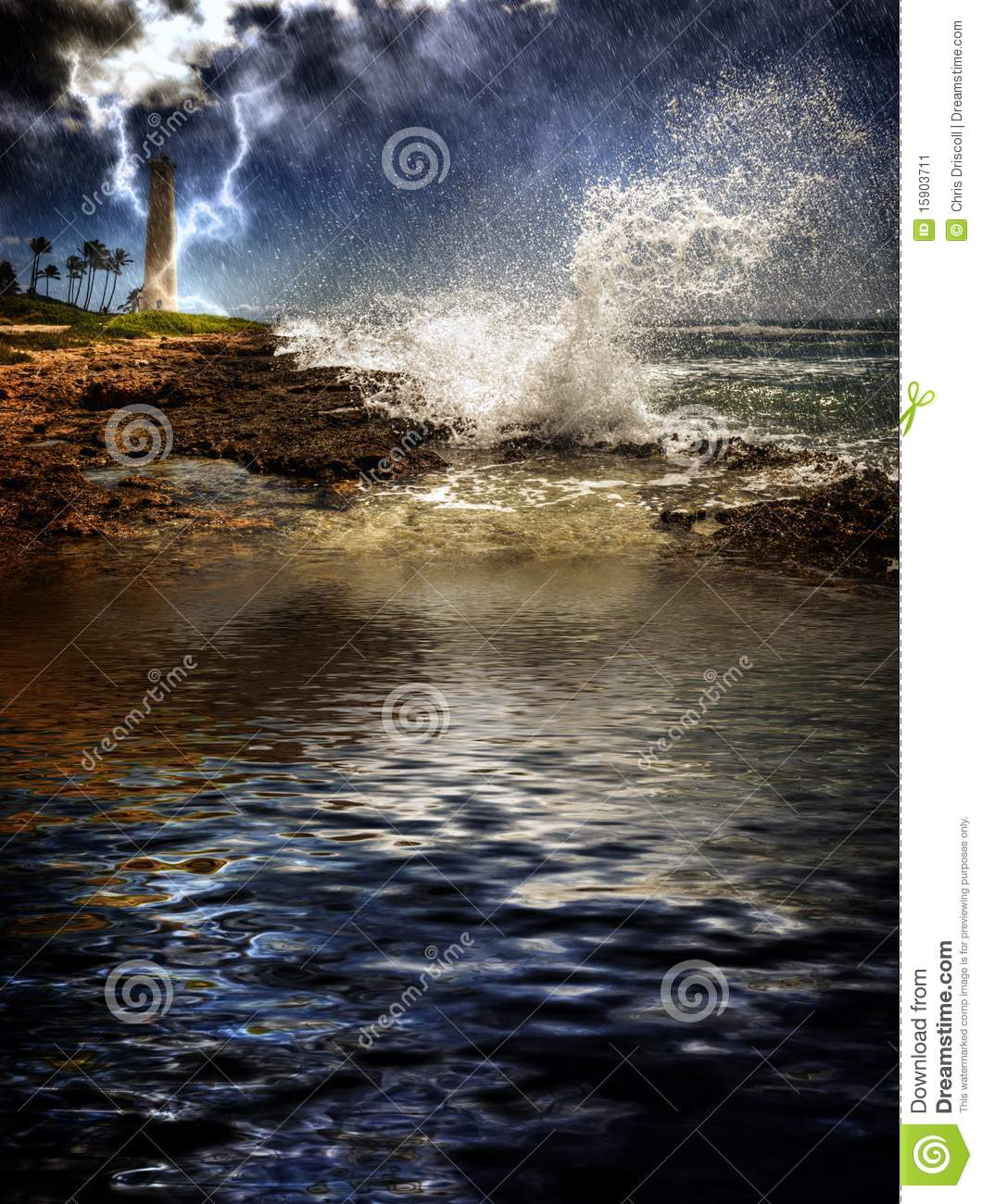 Tropical Island Storm Stock Image. Image Of Condition