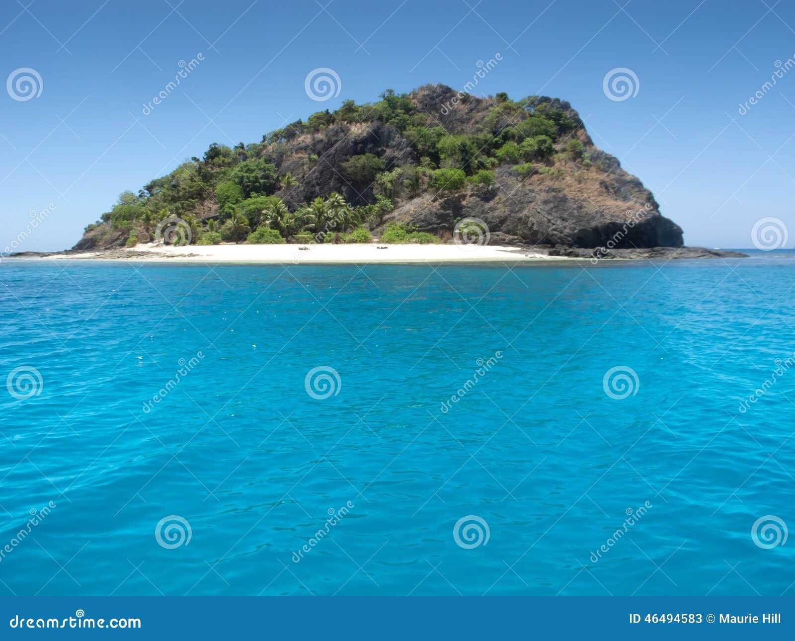 Tropical Island Sun: Tropical Island In The Sun Stock Photo
