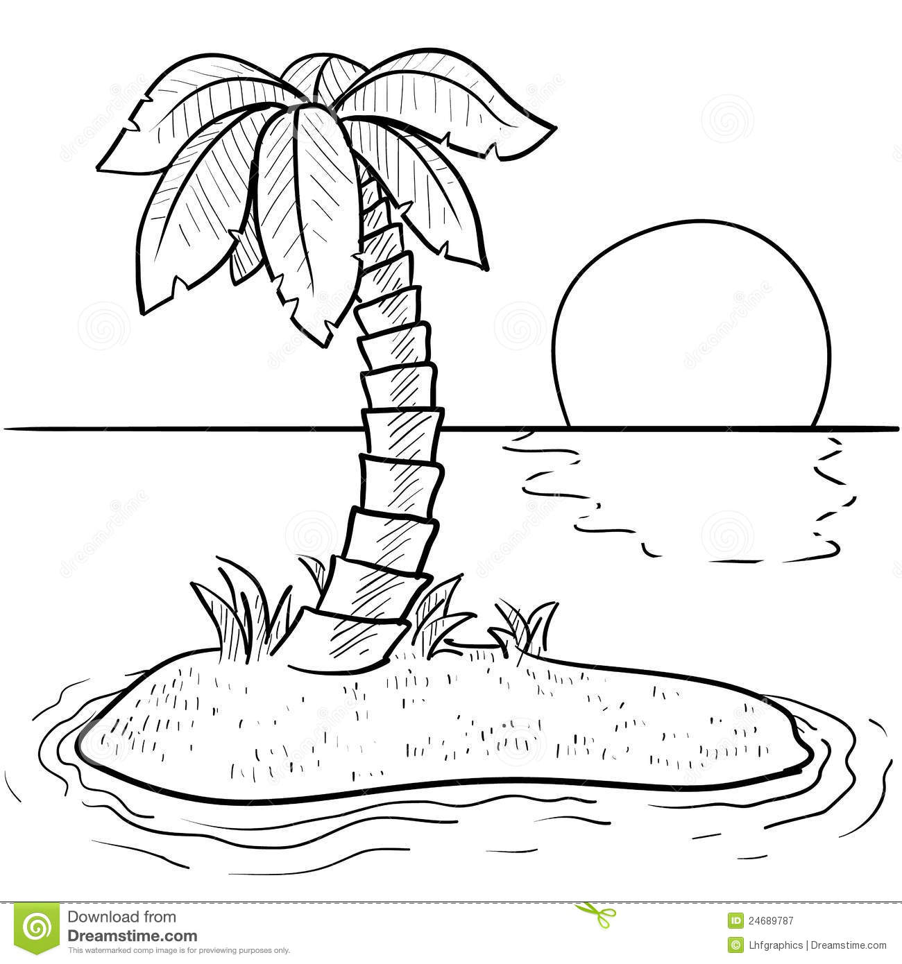 Tropical Island Vector Royalty Free Stock Photography Image 24689787