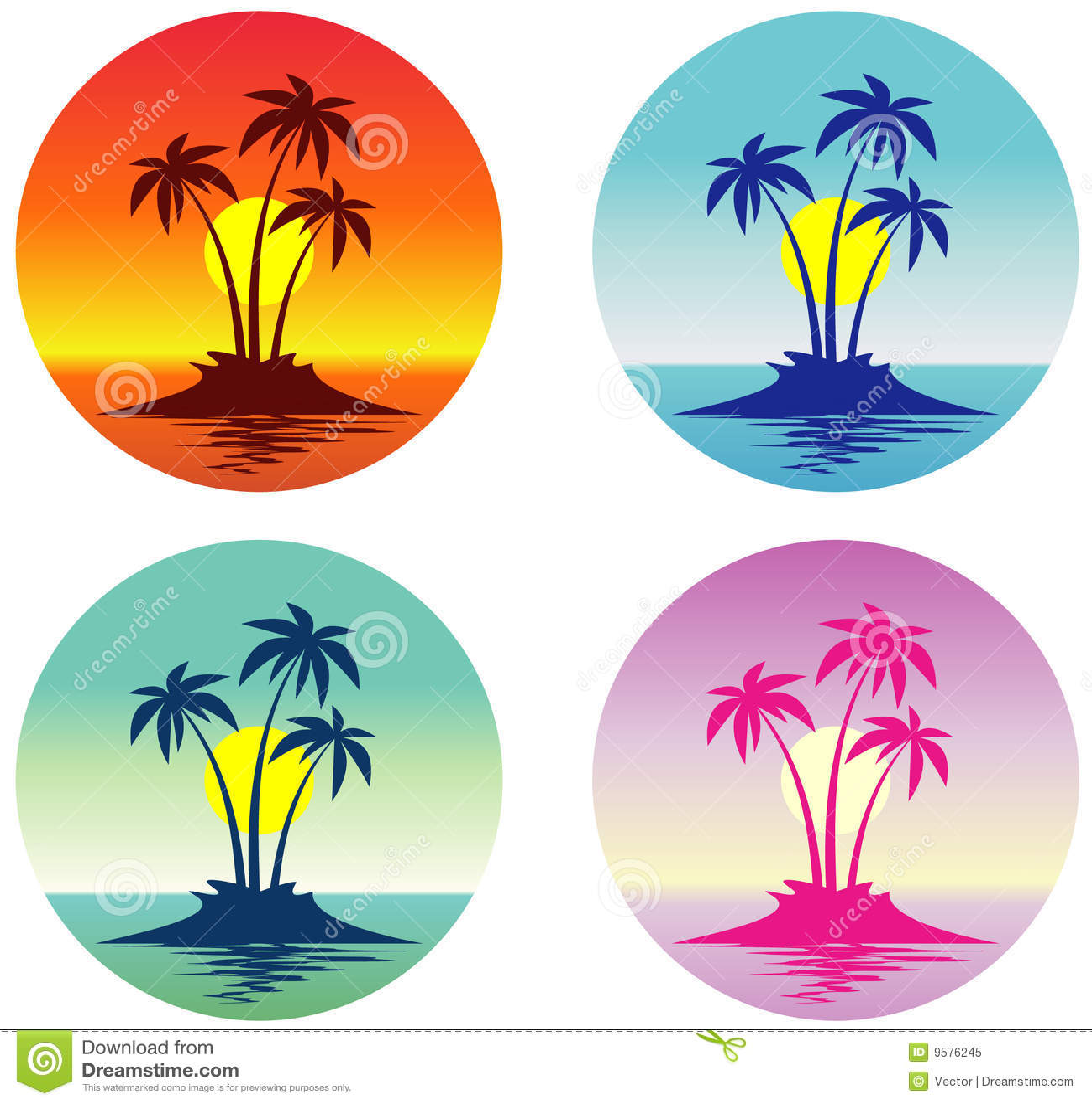 tropical island  vector  royalty free stock photo