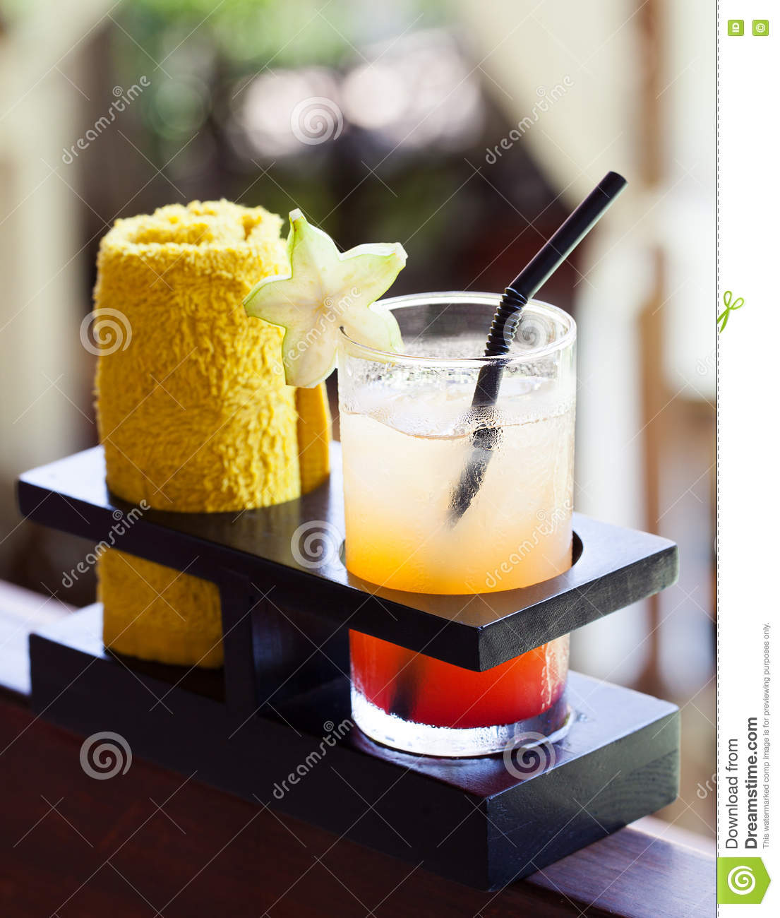 Spa Cold Towels: Tropical Juice And Cold Towel, Welcome Drink In The Hotel