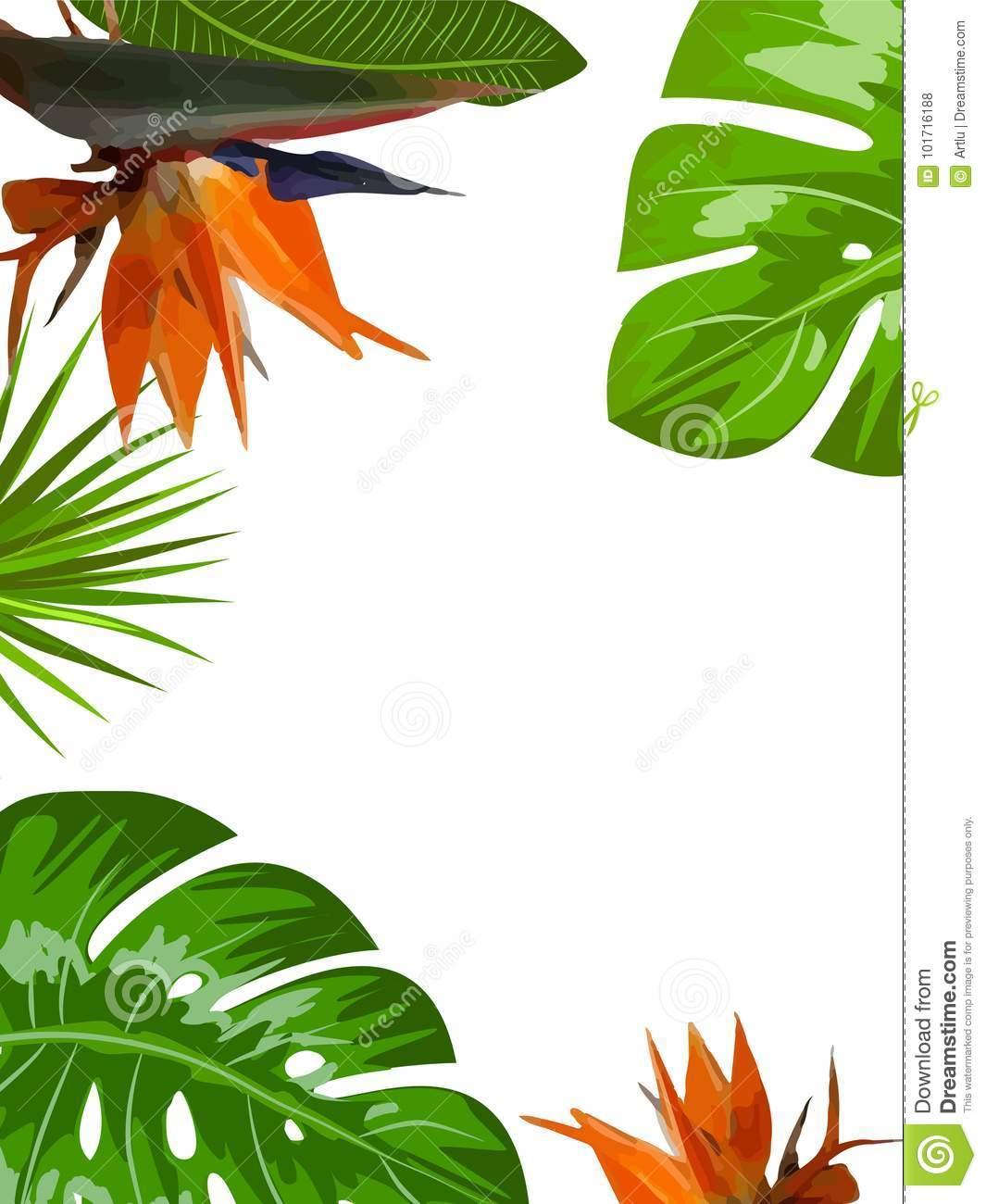 vector tropical jungle background with palm trees and leaves stock rh dreamstime com vector jungle animals vector jungle animals
