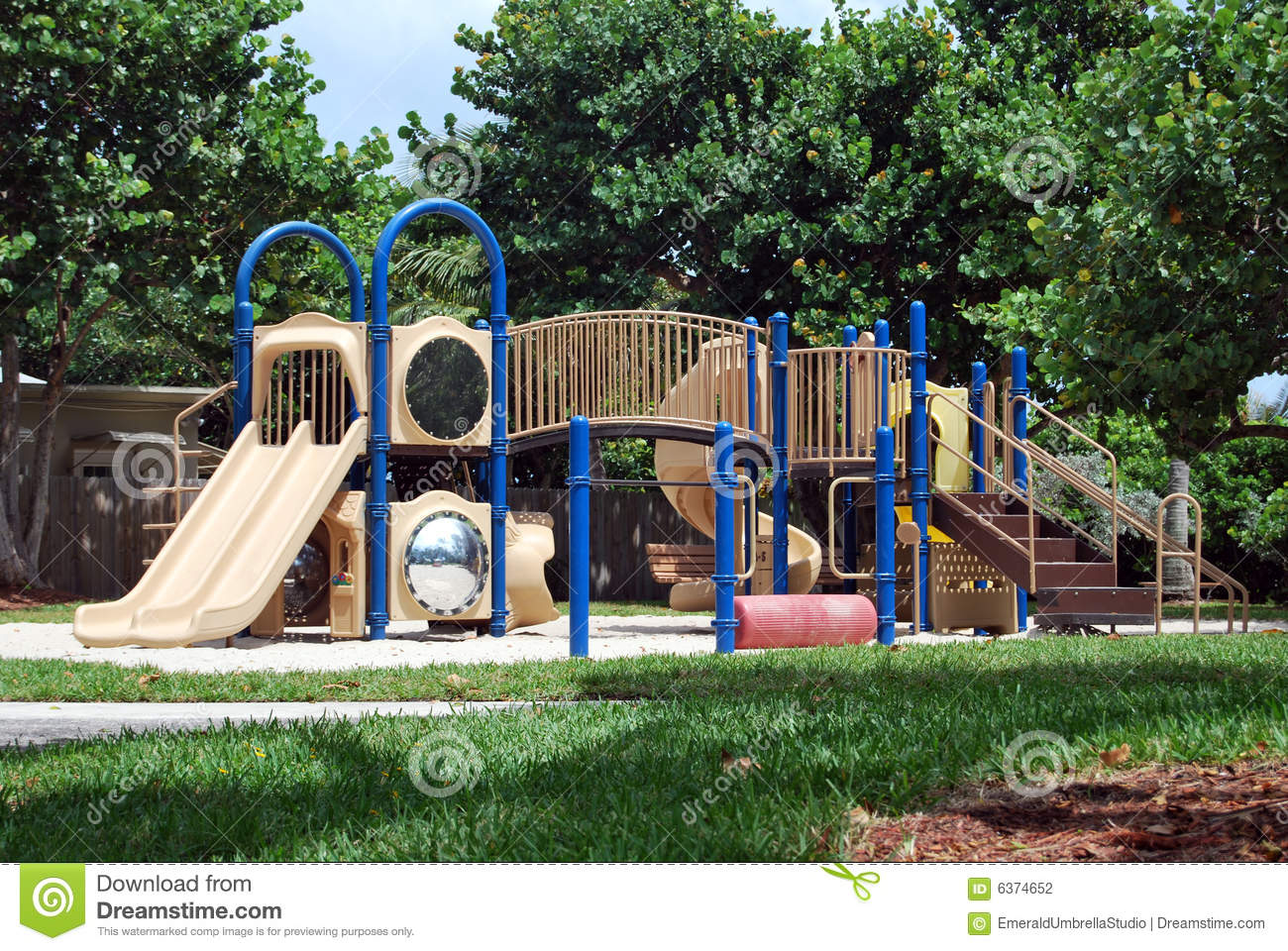 tropical kids play area stock photography image 6374652