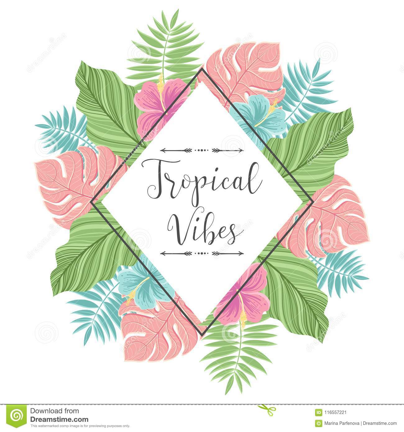 Tropical label with palm leaves perfect for invitations greeting download tropical label with palm leaves perfect for invitations greeting cards blogs m4hsunfo