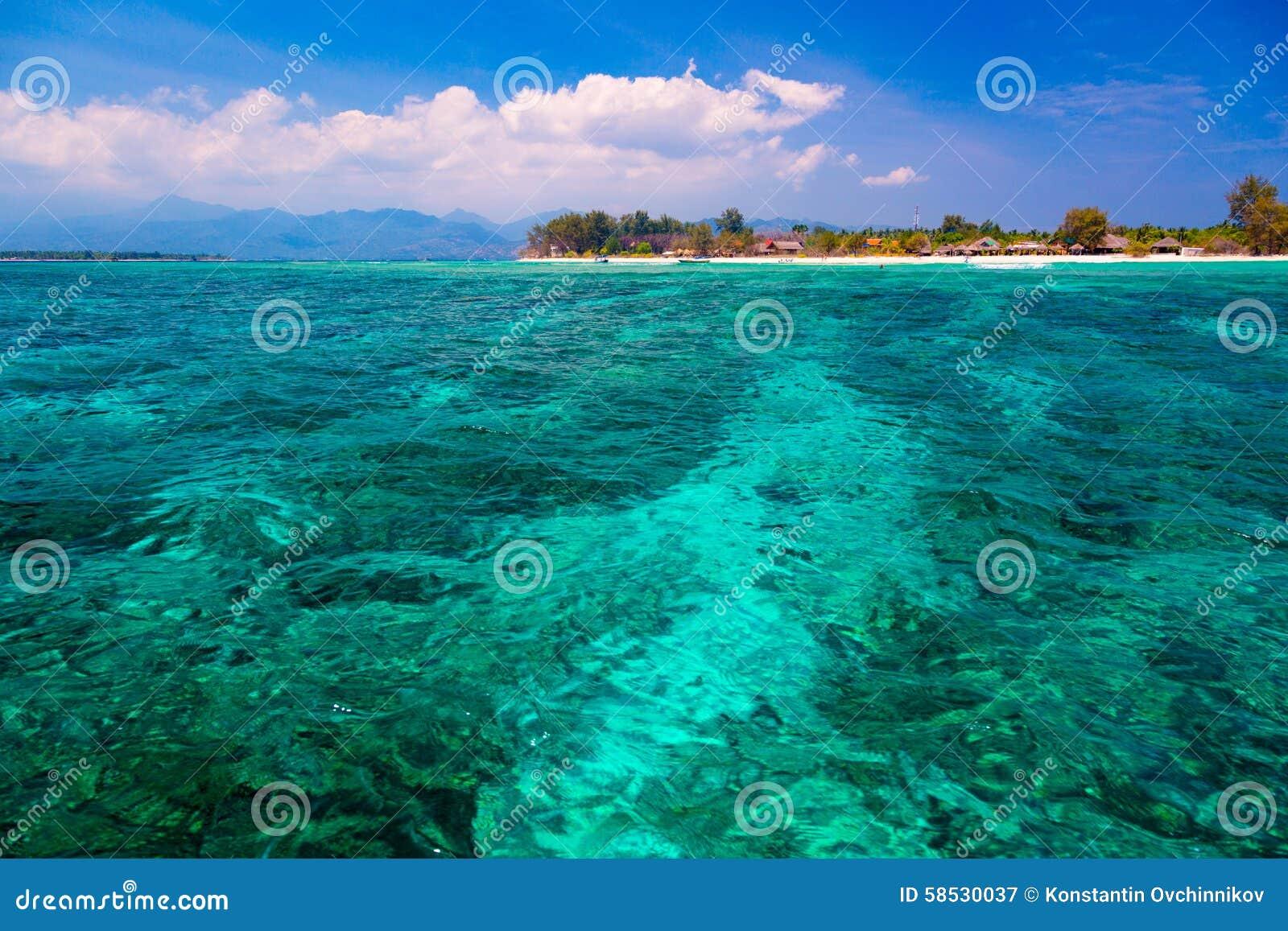Lagoon Tropical Island: Tropical Lagoon Stock Photo