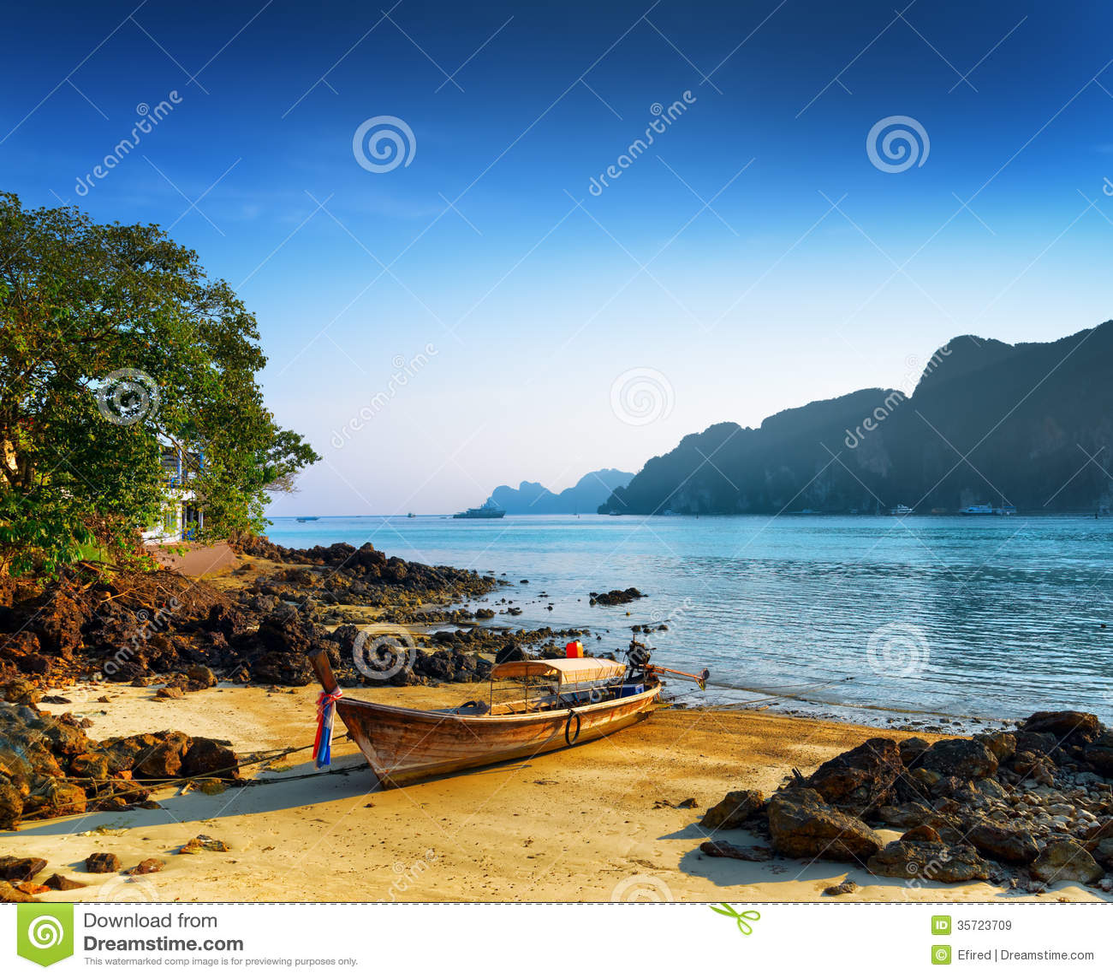 Phi Phi Beach: Tropical Landscape. Beach Of Phi Phi Island, Thailand
