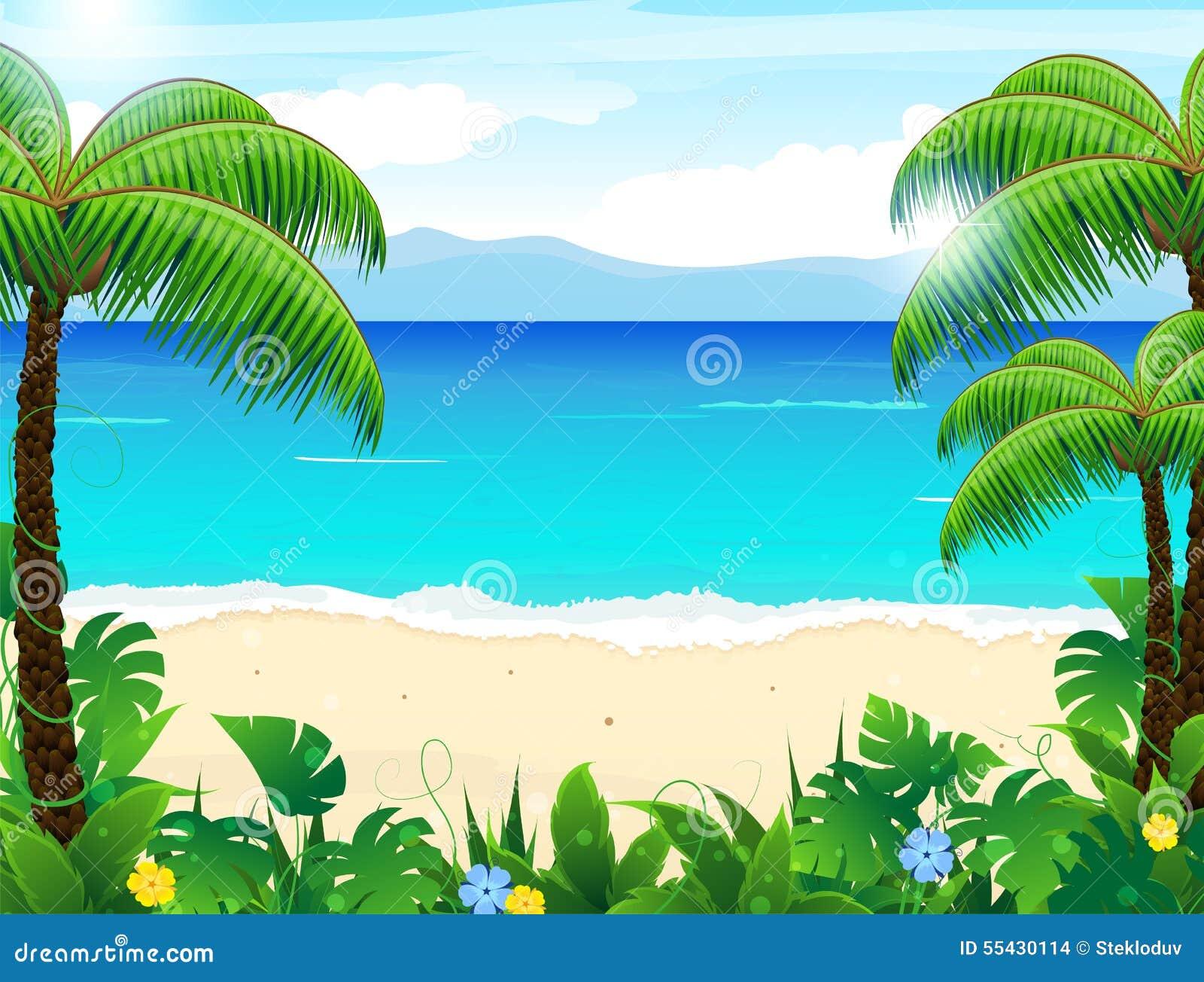 vector scenery tropical - photo #25