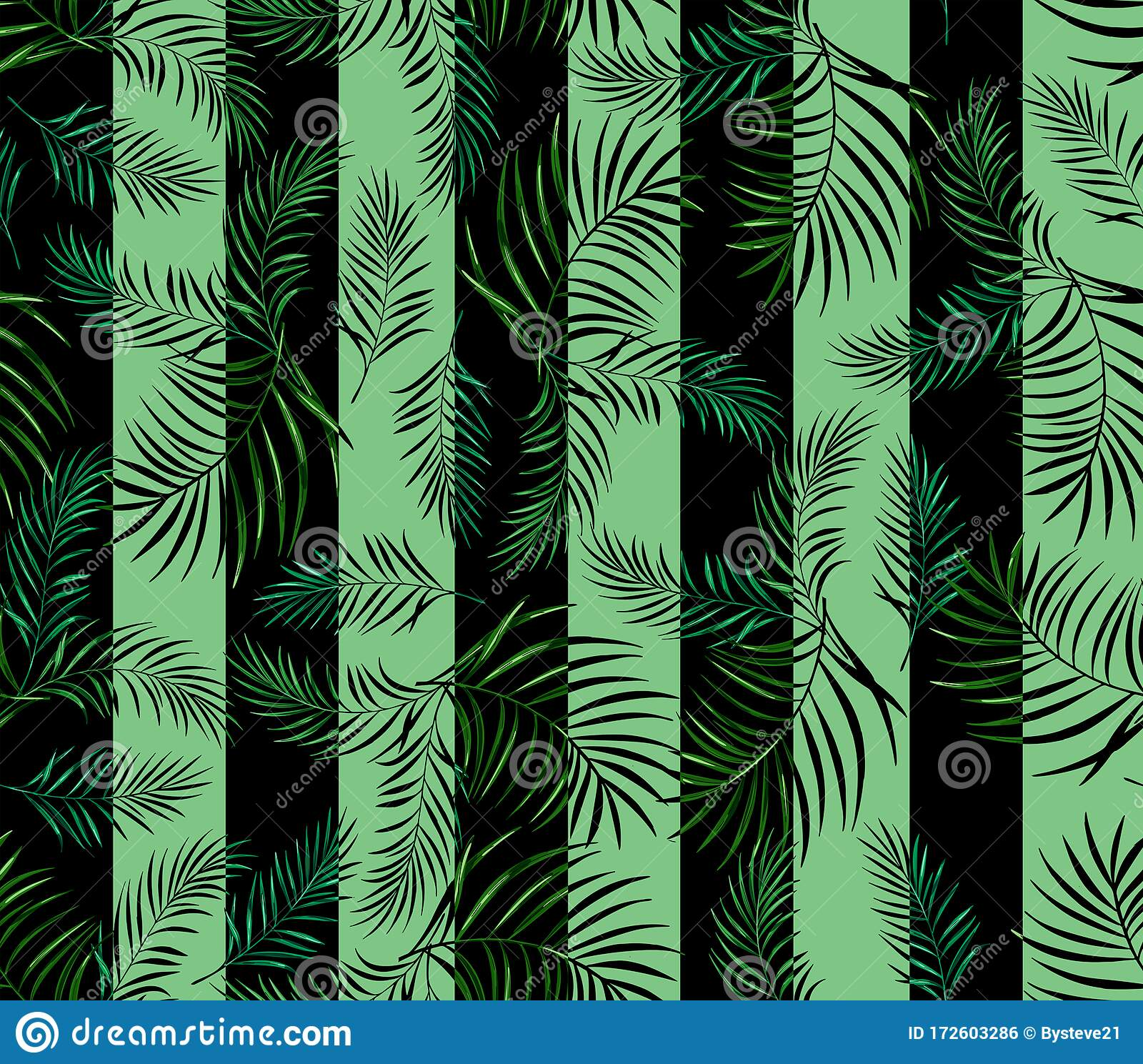 Tropical Leaves With Lines Background Seamless Pattern Stock Illustration Illustration Of Abstract Birds 172603286 Nature and flora vector footage of palm tree leaves. dreamstime com