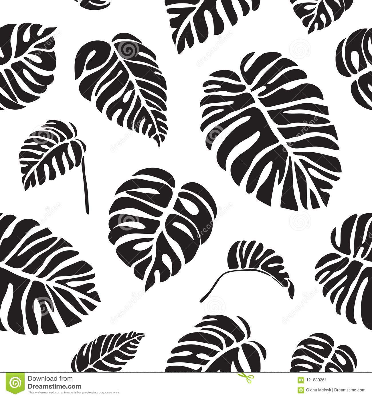 Tropical Leaves Monstera Black And White Seamless Pattern Stock Vector Illustration Of Silhouette Seamless 121880261 To get more templates about posters,flyers,brochures,card,mockup,logo,video,sound,ppt,word,please visit pikbest.com. https www dreamstime com tropical leaves monstera black white seamless pattern monstera black white seamless pattern tropical leaves vector image121880261