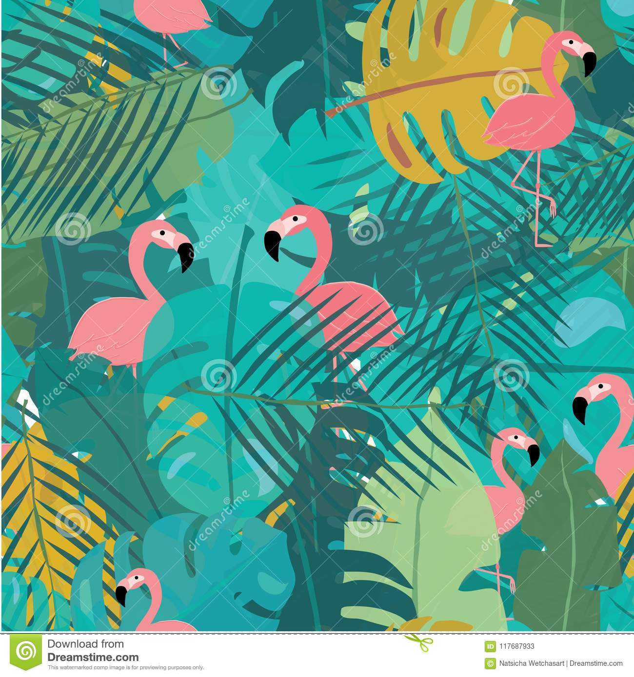 tropical leaves pattern abstract background with summer sale words