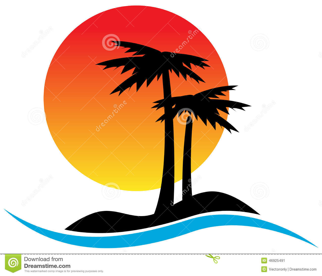 Tropical Logo Stock Vector - Image: 46925491