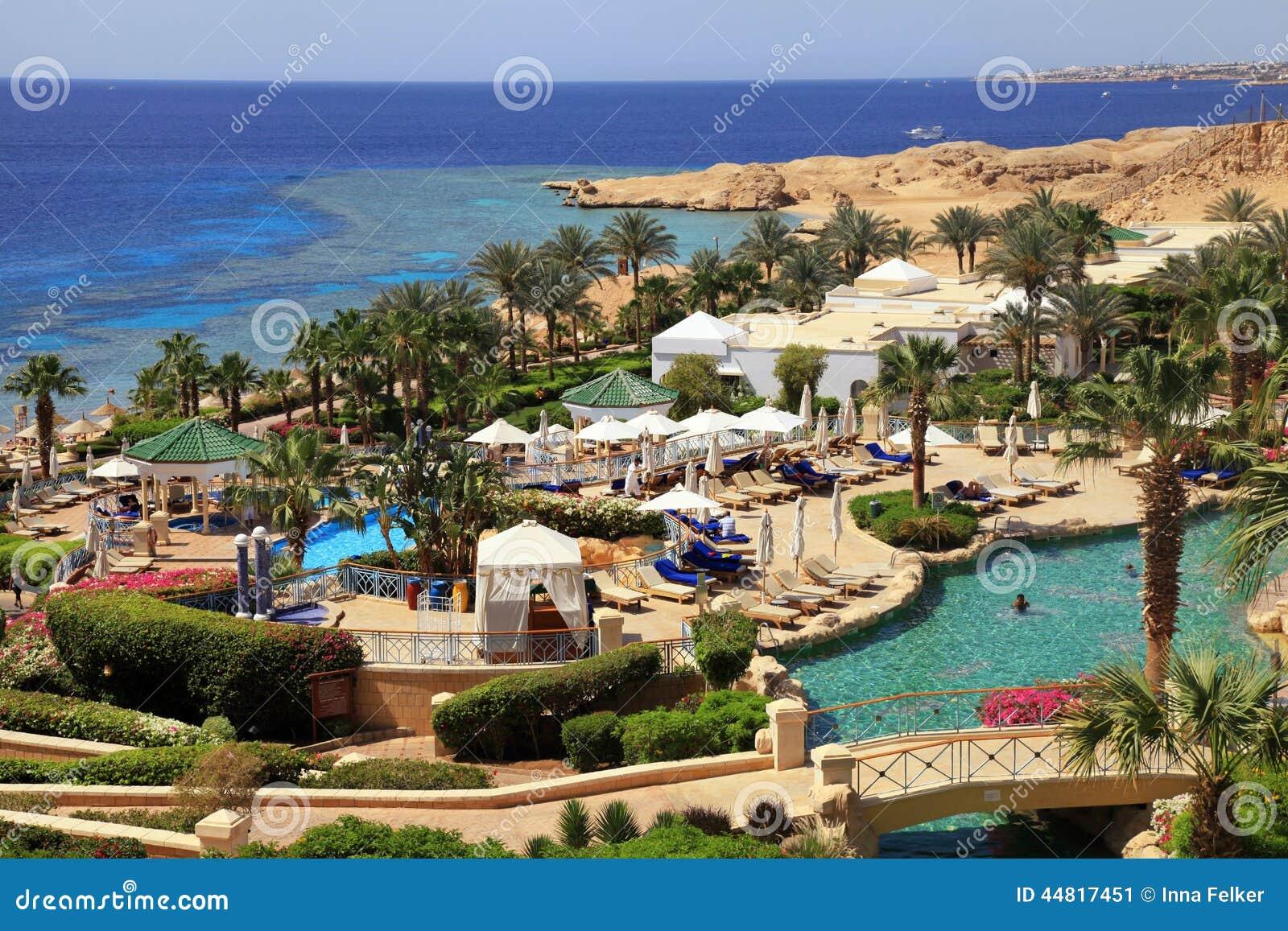 Tropical Luxury Resort Hotel Egypt Editorial Photo