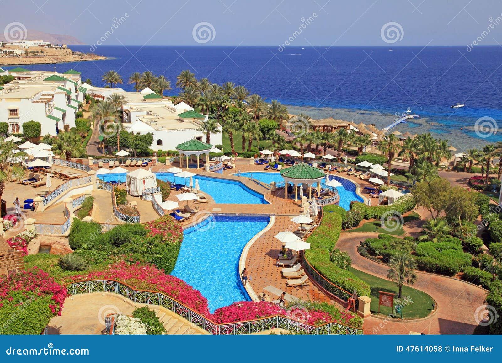 Tropical luxury resort hotel, Sharm el Sheikh, Egypt.