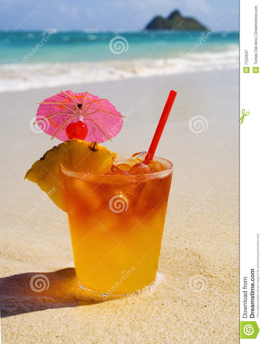 tropical island beach drinks tropical maitai drink royalty free stock photography 401
