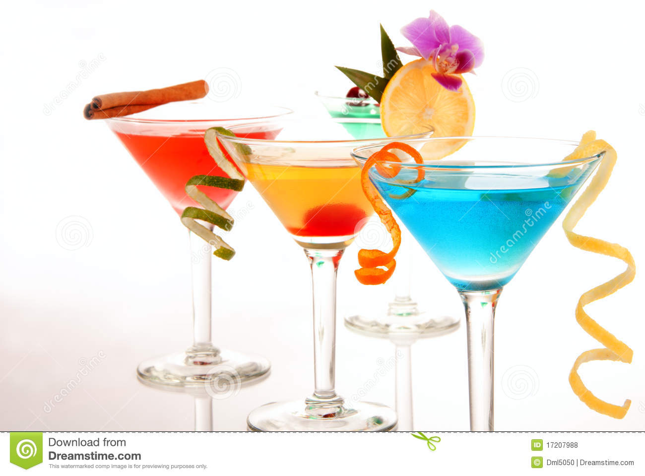 Tropical martini cocktails royalty free stock photos for Light cocktails with vodka